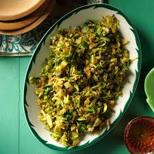 thanksgiving brussel sprout recipes shredded gingered brussels sprouts recipe taste of home