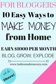 easy way to earn money 10 easy way to make money from home doing