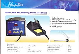 pt makro jaya hunter 203h esd soldering station lead free