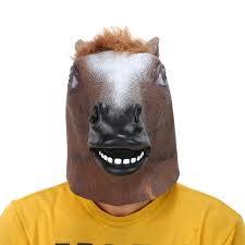 unicorn mask spirit halloween amazon com leegoal novelty latex horse head mask gangnam style