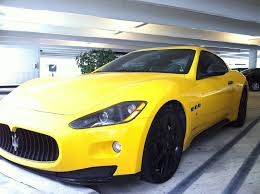 maserati quattroporte black rims yellow maserati granturismo with black rims exotic cars on the