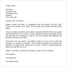 2 weeks notice letter template