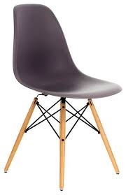 Shell Chair Dsw Gray Mid Century Modern Plastic Dining Shell Chair W Wood