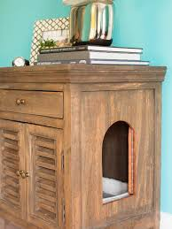 litter box end table how to conceal a litter box in a table hgtv