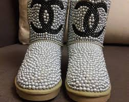 ugg glitter boots sale silver boots etsy