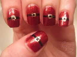 christmas santa nails 31 days of christmas santa bee polished