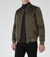 mens khaki padded er jacket reiss petras dream fashion