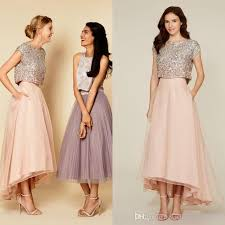2016 tutu skirt prom dresses sparkly two pieces sequins top