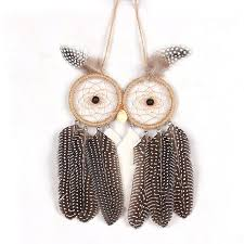 ms8069 owl feather ornaments catcher wall hanging decoration