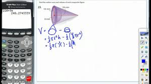 Surface Area And Volume Worksheets Grade 7 3d Composite Figures Volume And Surface Area Youtube