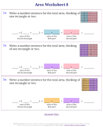 worksheets for area u0026 perimeter