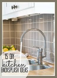 simple backsplash ideas for kitchen 15 diy kitchen backsplash ideas tipsaholic