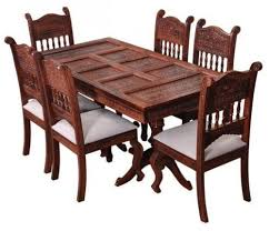 Carved Dining Table And Chairs Spider India Rajasthani Barmeri Carved Dining Table Rs 500