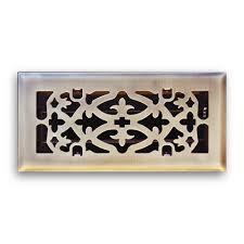 t a industries 4 in x 10 in ornamental scroll floor diffuser in
