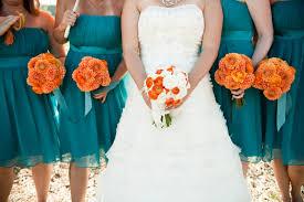 turquoise wedding modern orange turquoise wedding every last detail