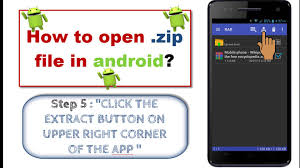 how to open zip files on android how to open zip rar file in android