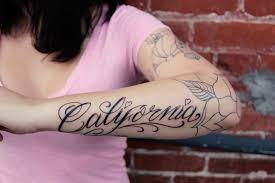 california lovin my new tattoo oh shoot
