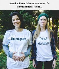 Baby Announcement Meme - a lesbian couples baby announcement by pookynat meme center