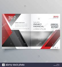 brochure magazine cover page template layout in red and black