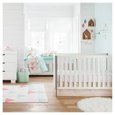 Cloud Crib Bedding Fitted Crib Sheet Feathers Cloud Island Pink Target