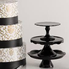 rococo noir cake pedestal stand black by rosanna