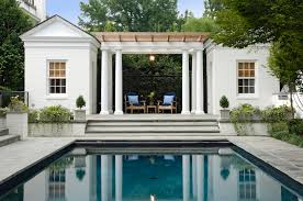 Home Design Stores Washington Dc by Pool House Addition On Raised Terrace Creates Stunning Outdoor Gew