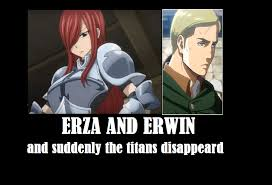 Attack On Titan Memes - fairy tail x attack on titan memes by chechenani on deviantart