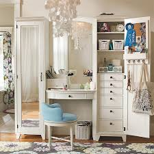 Bedroom Furniture Set With Vanity Bedroom Antique White Makeup Vanity Table With Lighted Mirror And
