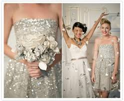silver sequin bridesmaid dresses just sparkle metallic bridesmaid dresses the styled