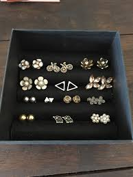how to make an earring holder for studs diy stud earring box inspired vaish