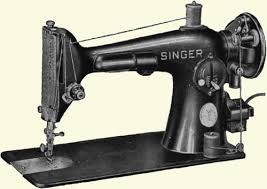 image of an old model sewing machine