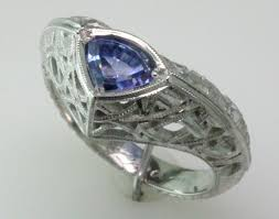 benitoite engagement ring custom benitoite ring mardon jewelers
