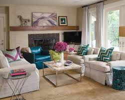 How To Arrange Living Room Furniture by Living Room Furniture Arrangement With Sofas And Fireplace And