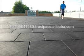Rubber Patio Mats Ergoplay Playground Safety Rubber Paver Outdoor Basketball Court
