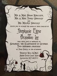 nightmare before christmas wedding invitations nightmare before christmas wedding invitations marialonghi