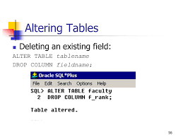 Alter Table Drop Column 1 Chapter 2 Creating And Modifying Database Tables Ppt Download