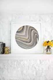 try this mat marbled paper for easy wall art u2013 a beautiful mess