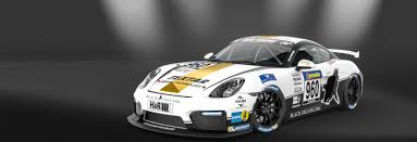 cayman porsche black black falcon starts with two brandnew porsche cayman gt4 each