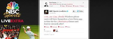 Nbc Sports Desk Nbc Sports Liveextra Inbound For Windows Phone 8 And Windows 8 Rt