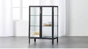 glass cabinet odean small glass cabinet cb2