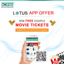 win free couple movie tickets by downloading lotus app and see the