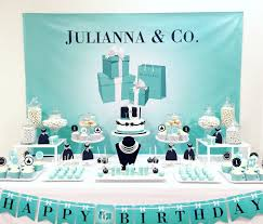 tiffany breakfast at tiffanys themed party by sweetandclever