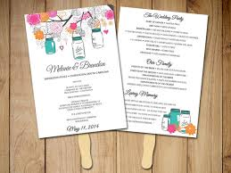 jar wedding programs jar wedding program fan template ceremony program