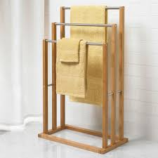 bamboo 3 tier towel rack shower curtains u0026 accessories