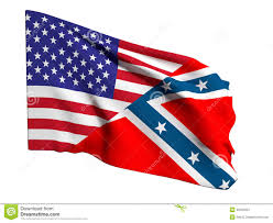 Civil War Rebel Flag Usa And Confederate Flag Stock Illustration Image Of