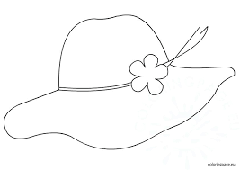 Pilgrim Bonnet Coloring Page Hat Pages Pictures Free Printable For Coloring Page Of A Hat