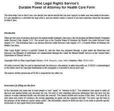 free medical power of attorney ohio form u2013 adobe pdf