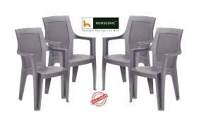 nilkamal kitchen furniture nilkamal mystique chair set of 4 charcoal grey u2013 homegenic