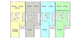 in apartment house plans 4 plex plan j0121 12 4 plansource inc
