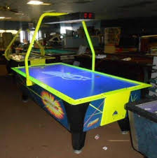 used coin operated air hockey table dynamo 8 foot flash ii air hockey table non coin game world planet
